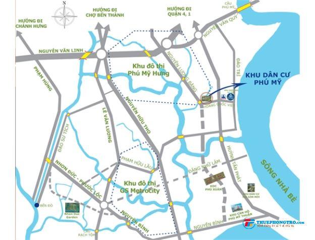 Nguyên căn nhà phố, đường Hoàng Quốc Việt, Q7. 35 triệu