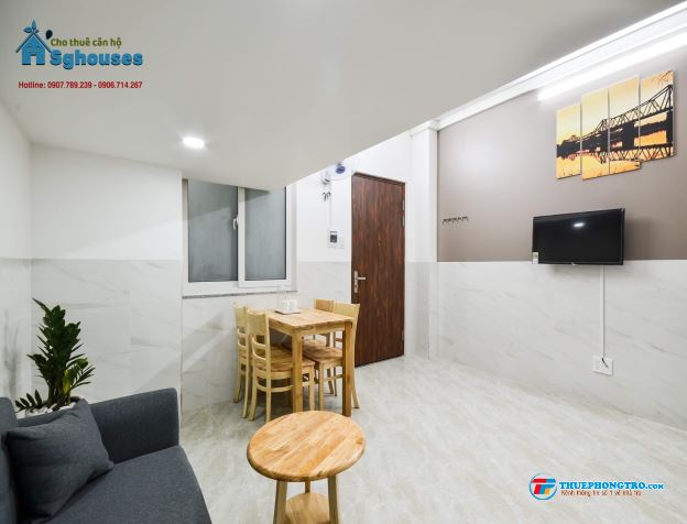 Cho thuê CHDV 35m2, có gác, full nội thất ngay Etown Cộng Hoà