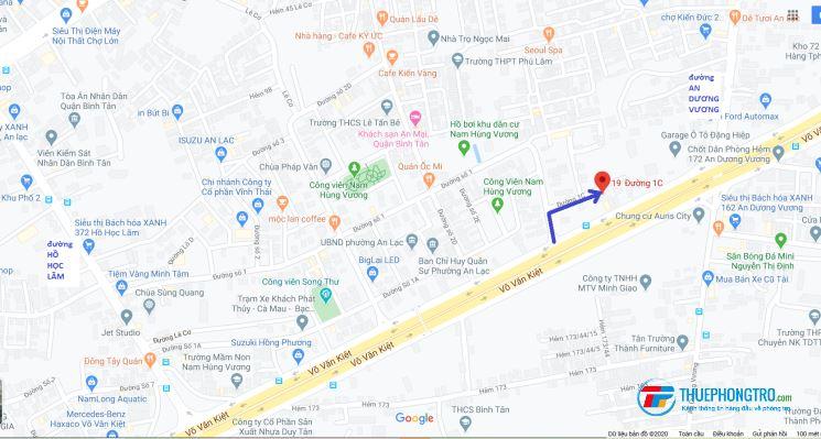 Cho thuê phòng trọ khu dân cư Nam Hùng Vương quận Bình Tân