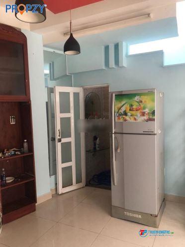Nhà nguyên căn đối diện CV Lê Thị Riêng, Q3. Tr, 2L, ST. Full nội thất. 13tr/tháng