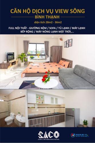 Cho thuê căn hộ studio cao cấp SACO – Bình Quới, mới 100% full nội thất Q. Bình Thạnh