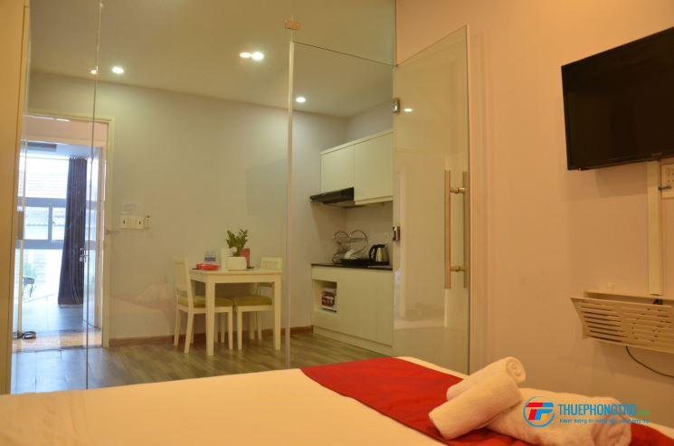Cho Thuê CHDV  q1-1PN full tiện nghi nội thất 35m2, giá chỉ từ 7tr500 Gần nhà thờ Tân Định