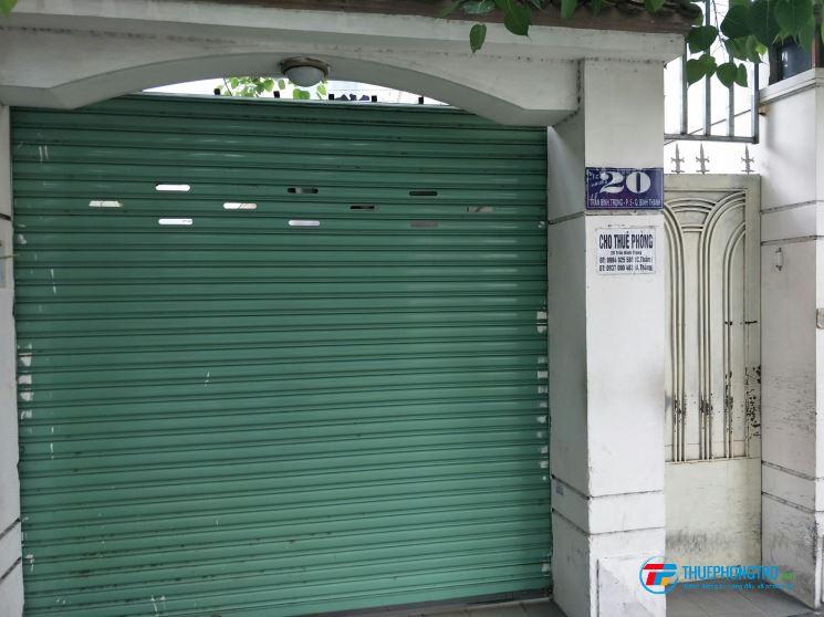 Cho thuê phòng trọ mới: 20 Trần Bình Trọng, Q.Bình Thạnh