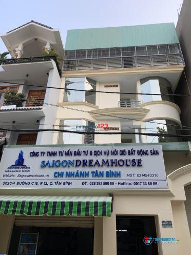 Cho thuê phòng trọ đường C18 - Lottemart Cộng Hoà - Q.Tân Bình