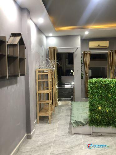 Phòng cho thuê, giờ tự do mặt tiền đường Hồ Văn Huê, phường 9, Q. Phú Nhuận
