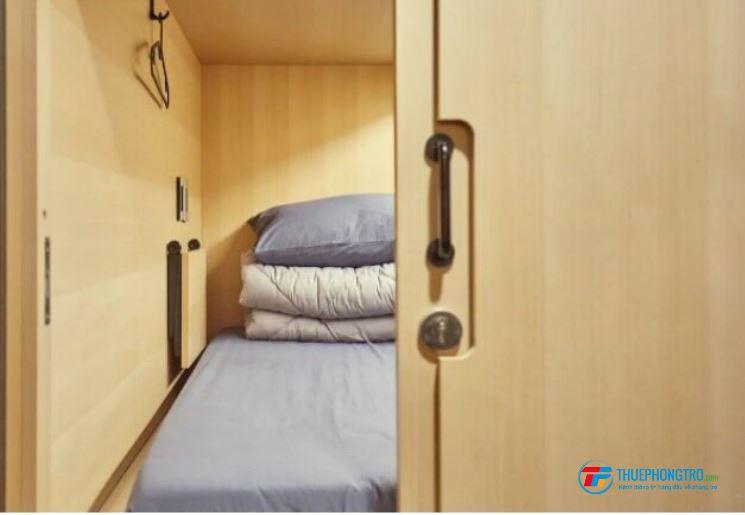 Cho thuê SleepBox Tân Phú giá 1tr4 Free dịch vụ