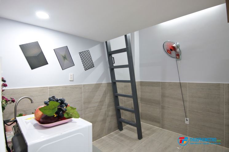 Phòng full tiện nghi có gác lửng ngay ngã tư Hàng Xanh – Q. Bình Thạnh❤️❤️❤️