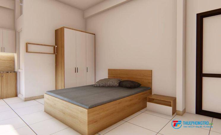 Cho thuê CCMN tại Kim Giang, thoáng mát, ban cồn rộng, nội thất mới