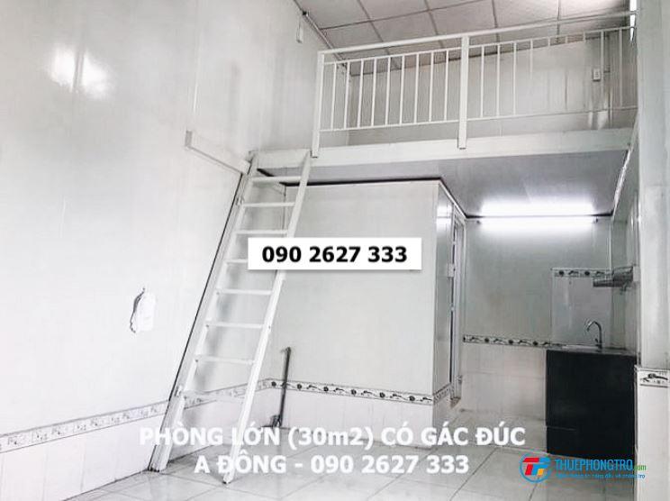 PHÒNG LỚN 30m2 có gác nấu ăn trong phòng, giờ tự do, an ninh giá cực rẻ - Cho thuê nhà trọ quận 8