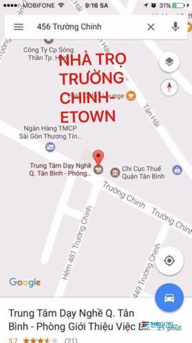 Phòng trọ 1,9tr CÓ GÁC ở Trường Chinh - Etown