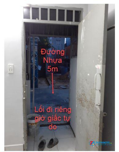 Phòng trọ 26 m2 mới, gác đúc, có lối đi riêng, Q12 - Miễn phí wifi