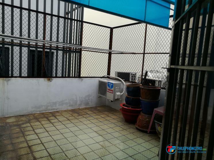 Phòng cho thuê diện tích sử dụng 4x13m. Đầy đủ tiện nghi máy lạnh, WC riêng...khu vực an ninh