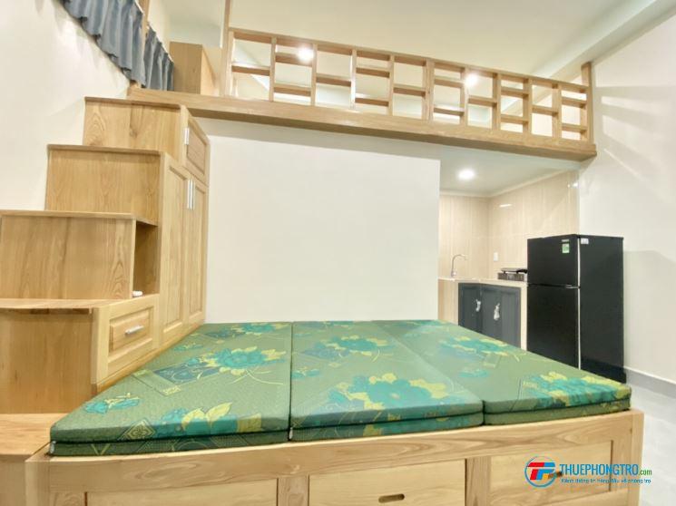 Căn hộ mini full nội thất gỗ - 458 HTPhat